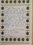 Letter from Zamir, Glebe School 2012