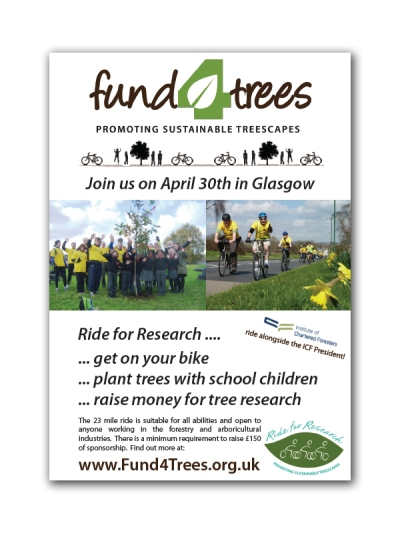 Ride for Research poster for Glasgow 2013