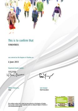 Fund4Trees charity registration certificate
