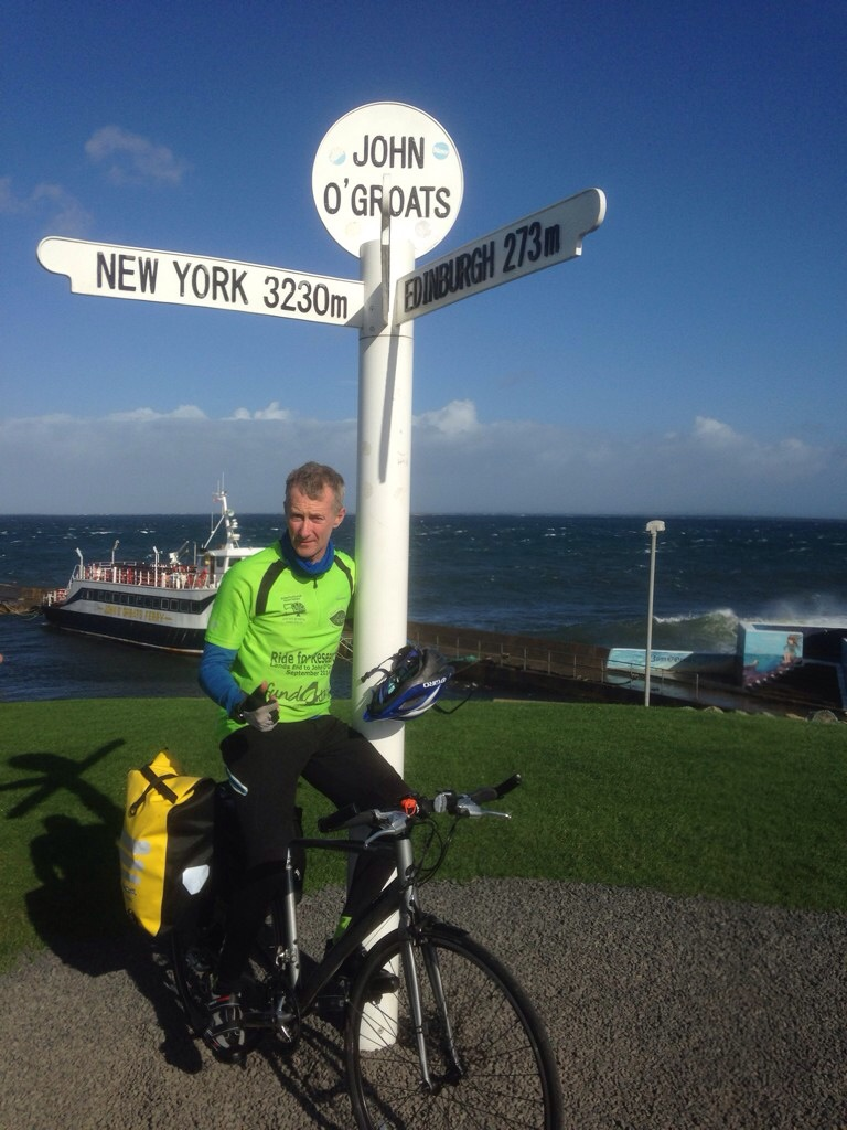 Russell Ball reaches John O'Groats