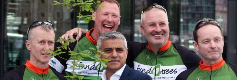 Fund4Trees 2016 London to Paris 2016 send-off by London Mayor Sadiq Khan