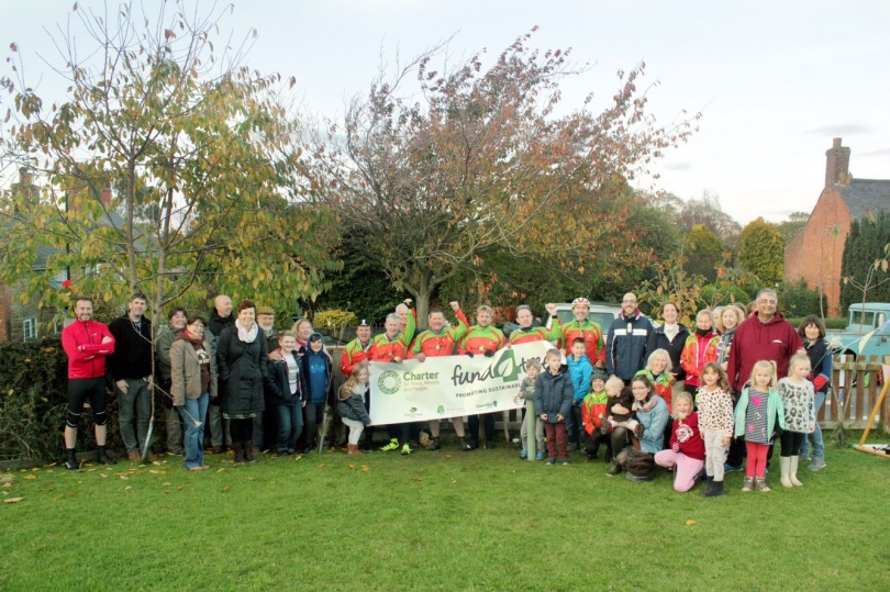 Somerby Charter Branch visited by FundTrees Charter Ride