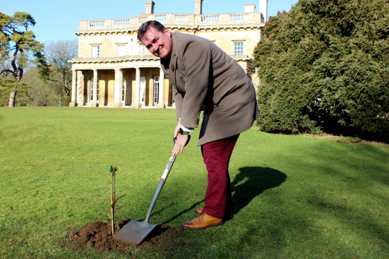 Simon Parkes, Deputy Vice Chancellor at the University of Lincoln, has planted a cutting from the Ankerwyke Yew at Riseholme Campus